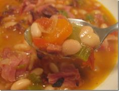 Navy Bean & Ham Soup w/Holiday Leftover Ideas