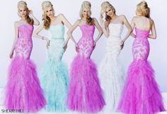 So cute! #mermaid #blue #lightblue #babyblue #mint #pink #white #promdress #longpromdress #sherrihill #wedding #prom style #11263