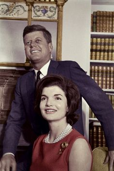 President-elect John F. Kennedy and his wife Jacqueline rejoice at the news of his success in the Presidential election.