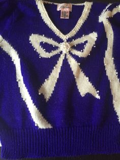 Jacklyn Smith embellished sweater 1980s baby!