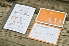 Wedding Invitations Modern Bicycle Invitation by WideEyesDesign, $2.00