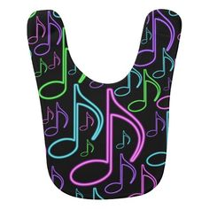 Cute and Fun Neon Music Note Collage