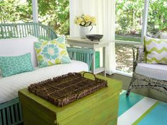 I love the painted porch floor.  House of Turquoise: Flea Market Trixie