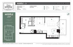 Plan de l'appartement 409 - Projet Ogilvy Warehouse. 1428, Avenue Overdale, Montréal, QC H3G 2H1