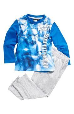 Mega fede Star Wars Pyjamas Blå Gråmeleret Star Wars Nat- & hyggetøj til Børn & teenager i behagelige materialer