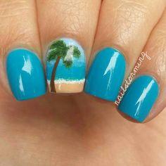 35 Hot Tropical Nail Art Designs For Summer Toe Nail Art Beach Nail Art, Beach Nail Designs, Beach Nails, Nail Art Designs, Beach Themed Nails, Ocean Nail Art, Sparkle Nails, Fancy Nails, Diy Nails