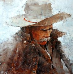 """SOLD- Cold Morning on the Ranch, 24"""" x 24"""", Oil by Andre Kohn  In love with this piece? Contact us for a commission.   http://www.andrekohnfineart.com/"""