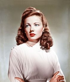 A beautiful colour photo of actress Gene Tierney.
