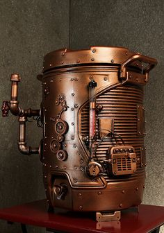 Steampunk Beverage Dispenser designed by Kevin Flyn ~ heck of a way to serve drinks! Casa Steampunk, Design Steampunk, Steampunk Kunst, Style Steampunk, Steampunk Costume, Steampunk Fashion, Steampunk Coffee, Steampunk Crafts, Fashion Goth