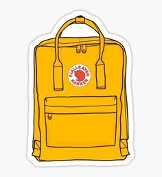 kanken yellow backpack Sticker art hoe laptop stickers Hmu on insta: lanah_iso Stickers Cool, Preppy Stickers, Red Bubble Stickers, Tumblr Stickers, Phone Stickers, Printable Stickers, Cute Laptop Stickers, Macbook Stickers, Griffonnages Kawaii