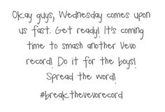 #breakthevevorecord Let's do it guys! REPIN EVERYWHERE POST IT ON INSTAGRAM TWITTER WHATEVER JUST GET THE WORD OUT!!!
