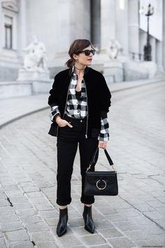 Weekday Boyfriend Jeans & Velvet Bomber Jacket I Details on viennawedekind.com