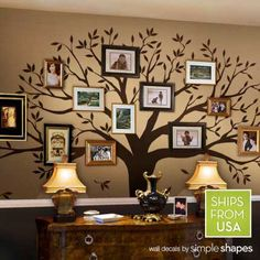 Wall decal, Family Tree Wall Decal – Photo frame tree Decal – Family Tree Wall Sticker – Living Room Wall Decals – wall graphic - Famous Last Words Inspiration Wand, Images Murales, Family Tree Wall Sticker, Family Wall Decor, Tree Decals, Metal Tree Wall Art, Tree On Wall, Tree Wall Painting, Tree Artwork
