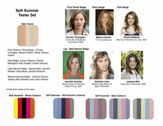 Light Summer & Soft Summer Colours pinterest #nebbsie
