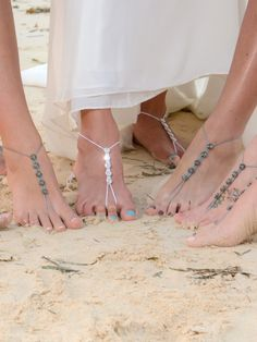 Barefoot Sandals- Foot Jewelry- Anklet- Footless Sandals- Barefoot Wedding- Beach Wedding Sandals- Swarovski Crystals- Bridesmaid Gift by ModernCrochetClub on Etsy https://www.etsy.com/listing/201905924/barefoot-sandals-foot-jewelry-anklet
