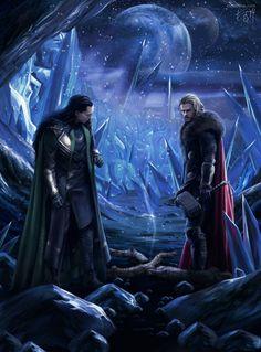 #Loki #Fan #Art. (Fire and Ice) By: Eleathyra. [THANK U 4 PINNING!!]