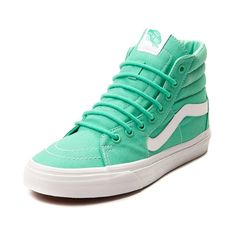 Step out in style with the new Sk8 Hi Skate Sneaker from Vans! The Sk8 Hi Sneaker sports a hi top design with sturdy canvas uppers, padded collar for superior comfort, classic side stripe, and vulcanized sole with signature rubber waffle tread. Only available at Journeys and SHI by Journeys!