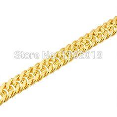 Men snake bone bracelet 18k gold plated imitation gold jewelry 6 mm wide; 8 mm wide; 10 mm wide couple models Christmas gift