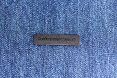 Heat transfer leather label made in Italy by Panama Trimmings