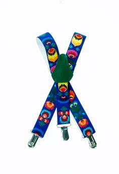 Folk suspenders with flowers. Made in Poland