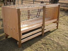 Hay Rack Designed Specifically For Goats