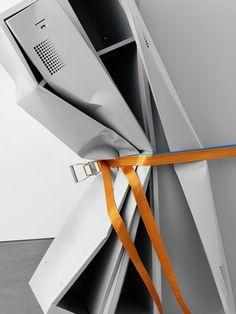 Matias Faldbakken, Untitled Locker Sculptures Nos. 1 & 2 (2010)