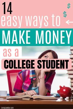 14 Easy side jobs for college students that you can do if you need extra cash. These are great side hustles if you are looking to make money from home this summer. #makemoney #makeextracash #sidehustles #makemoneycollegestudents #sidejobs #collegestudents Make Money Fast, Make Money From Home, Best Online Jobs, Cash Today, Making Extra Cash, Be Your Own Boss, College Students, Personal Finance, You Can Do
