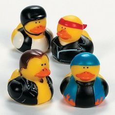 Biker Rubber Duckies (12 Pack)