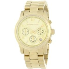 Michael Kors Quartz, Gold Dial with Goldtone Link Band - Womens Watch MK5055