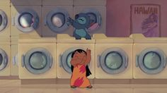 Even stitch has to do laundry