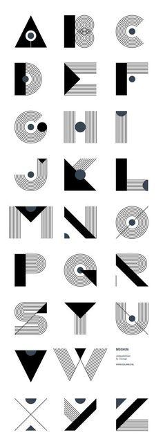 Graphic design (alphabet) · moshun by jeroen krielaars art deco typography, art deco font, font art, typography Typography Letters, Graphic Design Typography, Lettering Design, Typography Served, Font Art, Creative Typography, Alphabet Design Fonts, Font Styles Alphabet, Art Deco Typography