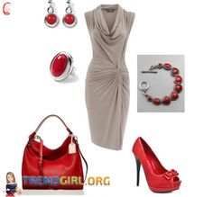 THE GOOD-LOOKING GRAY AND RED Gray is one of the best colors when it comes to this beautiful dress that is specially designed to make you look absolutely gorgeous. The Gray and red knee length dress would look amazing with a pair of red hanging earrings, a red and silver bracelet, a red ring, a red stylish bag and red fashionable high heeled stilettos that will help you rock the party tonight.  For full text please visit website