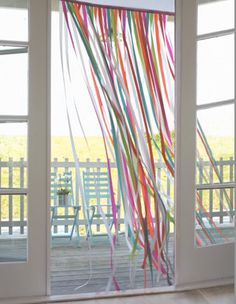 Ribbon Backdrop Curtain.