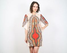 Vintage Hippie Dress Dashiki By Shoptwitchvintage $76