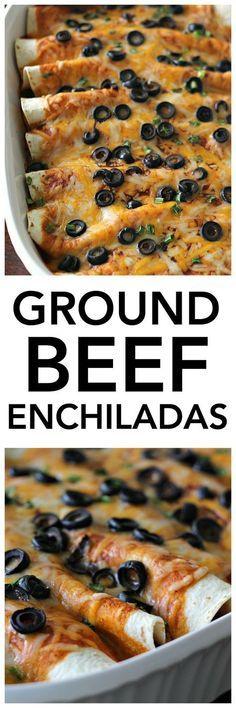 Recipe Chicken Fried Rice - How to Cook Chicken Fried Rice Ground Beef Enchiladas Recipe From This Made From Scratch Dinner Tastes Phenomenal And The Kids Will Love It Mexican Dishes, Mexican Food Recipes, Dinner Recipes, Dinner Ideas, Indian Recipes, Lunch Recipes, Appetizer Recipes, Mexican Desserts, Italian Appetizers