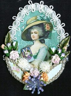 Easter Marie ATC by Kris DIckinson  http://nostalgiccollage.blogspot.com/