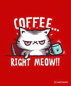I love coffee so I need it right meow Coffee Talk, Coffee Is Life, I Love Coffee, My Coffee, Morning Coffee, Coffee Cups, Coffee Lovers, Happy Coffee, Coffee Break
