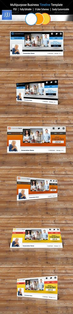 FB Timeline Cover 001 Timeline, Fashion and Colours - business timeline template