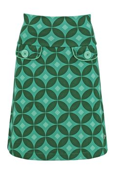 Retro Skirt Gradica Green