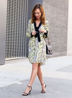 Sydne Style shows how to wear to wear the snakeskin print trend for fall