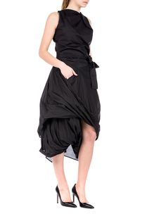 Vivienne Westwood Anglomania  - drap Eight dress - black party dress - ZO ET LO EASY SHOPPING WORLDWIDE EXPRESS SHIPPING