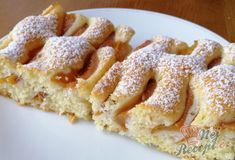 Šlehačkový broskvový koláč | NejRecept.cz Finger Food Appetizers, Finger Foods, Appetizer Recipes, Apple Pie, Deserts, Food And Drink, Cooking Recipes, Sweets, Cookies