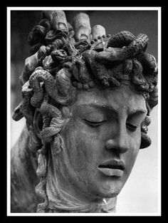 "►Greek Mythology: ""The Gorgons"".- Head of Medusa (detail) by Benvenuto Cellini Medusa Kunst, Medusa Art, Medusa Gorgon, Medusa Tattoo, Medusa Head, Michelangelo, Renaissance Kunst, Greek Statues, Roman Sculpture"