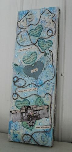 """Altered art & art journaling : """"Take time to fly"""" Something Old, Altered Art, I Card, Mixed Media, Cool Stuff, Art Journaling, Art Art, Art Diary, Performing Arts"""