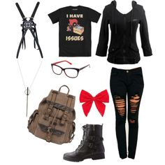 geek sheek dead pool by fuzzywuzzyrox on Polyvore featuring polyvore fashion style Machine Bamboo Wilsons Leather Michael Kors A.J. Morgan Carole women's clothing women's fashion women female woman misses juniors