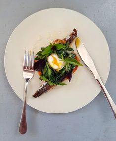 Kobus van der Merwe's Bokkoms on Toast with Poached Egg, Dune Spinach & Beurre Blanc Toast Sandwich, Biltong, Small Restaurants, Good Housekeeping, Poached Eggs, Brunch Recipes, Spinach, Bacon, Dune