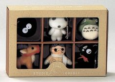 NEW Studio Ghibl 6 Miniature Figure Mascot Set Small Plush Doll Christmas Gift