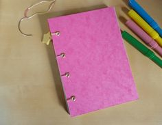 Your place to buy and sell all things handmade Notebooks, Journals, Pink Cards, Pocket Books, Blank Book, Colored Paper, Bullet Journal Inspiration, Journal Notebook, Bright Pink