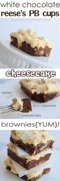 These reeses peanut butter brownies with cheese cake are to die for!