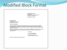 Collection of Solutions Modified Block Style Business Letter Definition With Summary